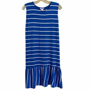 Exist Stripped Peplum Hem Dress Size XL NWT